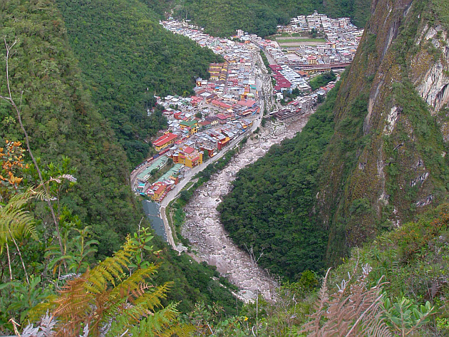 Aguas Calientes Seen From Above
