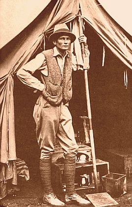 Hiram Bingham in Front of His Tent