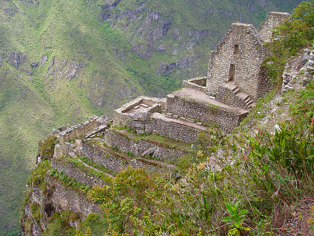 Machu Picchu Cliffside Buildings