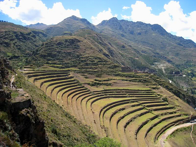Agricultural Terraces Near the Town of Písac